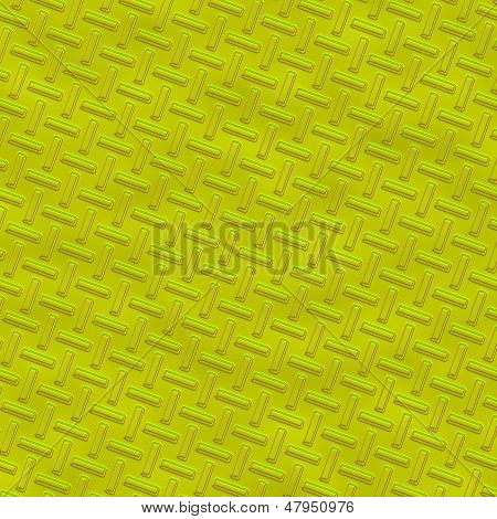 Yellow diamond steel plate. A large iIlustration background poster