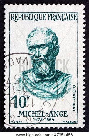 Postage Stamp France 1957 Michelangelo, Italian Sculptor, Painter