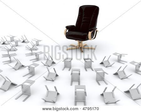 Armchair And Chairs Croud