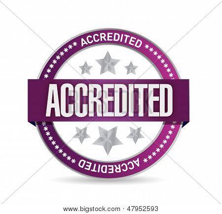 Accredited Seal Stamp Illustration Design