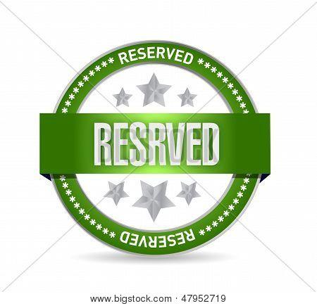 Reserved Seal Stamp Illustration Design