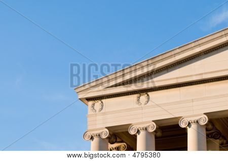 Detail Of Neoclassical Building, Top Of Columns