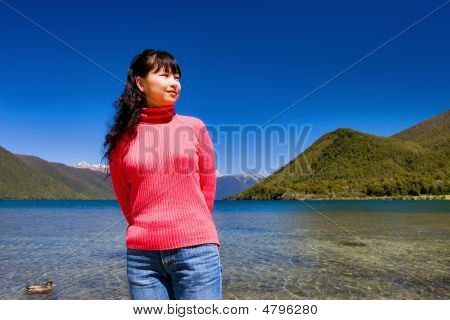 A Girl By The Lake