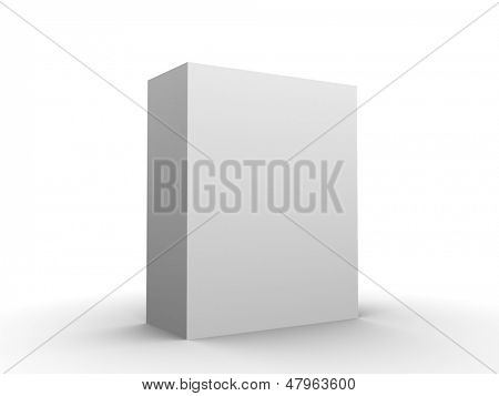 Software box blank add your software design in blank space