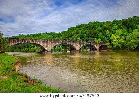 Stone bridge over Cumberland River