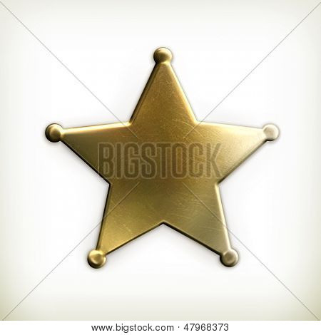 Ícone de estrela de xerife