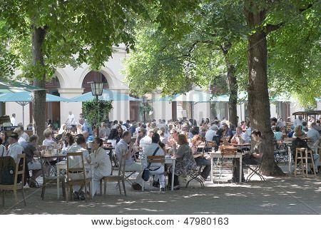 Beer Garden In Munich