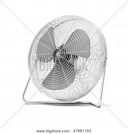 Floor mounted powerful fan