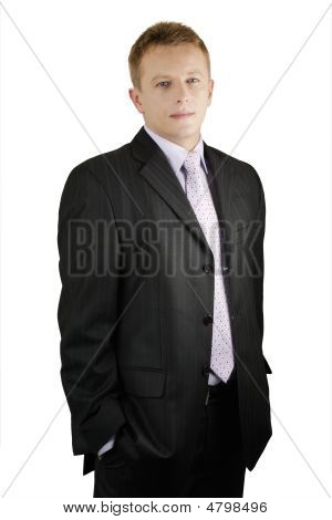 Portrait Of Sucessfrul Middleage Businessman Smiling