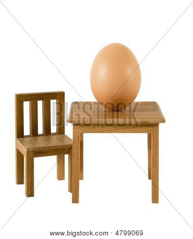 Big Egg On Table