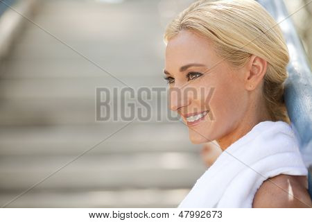 Athlete Smiling With Copy Space