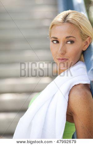 Beautiful Woman Looking Over Her Shoulder