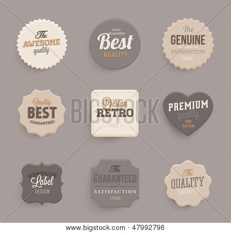 Set of vector retro ribbons, banners and vintage emblems. Elements vector collection for vintage design.