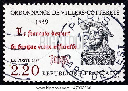 Postage Stamp France 1989 The Ordinance Of Villers-cotterets