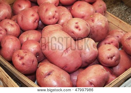 Red Potatoes in Store