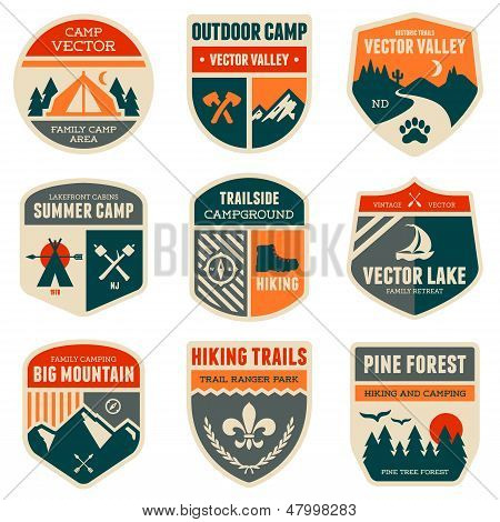 Retro Camp Badges