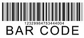 illustration of bar code at the white background poster