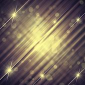 abstract vintage violet grey background with shining yellow lines and stars poster