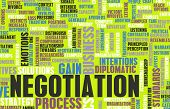 Negotiation in Business as a Abstract Concept poster
