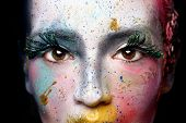 Extreme Make Up Cosmetics on a Beautiful Woman poster