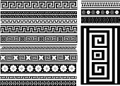 Different types of seamless Greek patterns. For you design poster