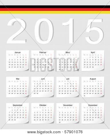 German 2015 Calendar