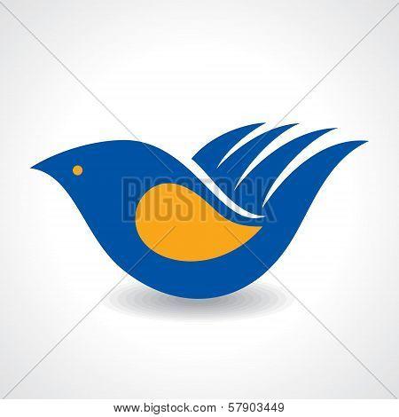 Creative Idea - Hand make a bird icon