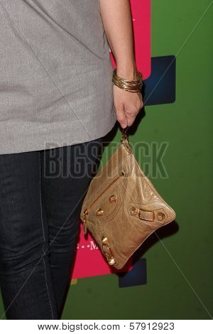 Bonnie Somerville's purse  at the T-Mobile G1 Launch Party. Siren Studios, Hollywood, CA. 10-17-08
