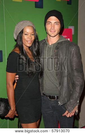 Golden Brooks and Brandon Trentham  at the T-Mobile G1 Launch Party. Siren Studios, Hollywood, CA. 10-17-08