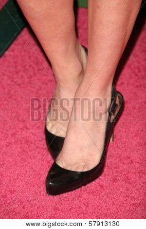 Brittany Snow's Shoes  at the T-Mobile G1 Launch Party. Siren Studios, Hollywood, CA. 10-17-08