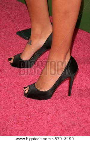 Courtenay Semel's shoes  at the T-Mobile G1 Launch Party. Siren Studios, Hollywood, CA. 10-17-08