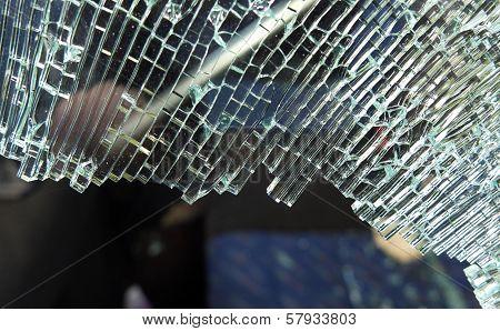 Broken Car Window Glass