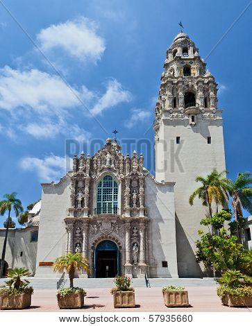 San Diego's Balboa Park Bell Tower and Museum Building in San Diego California
