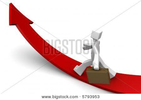 Business wachsenden Richtung Konzept