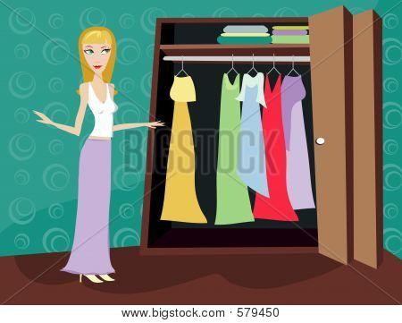 Closet Of Clothes - Blonde