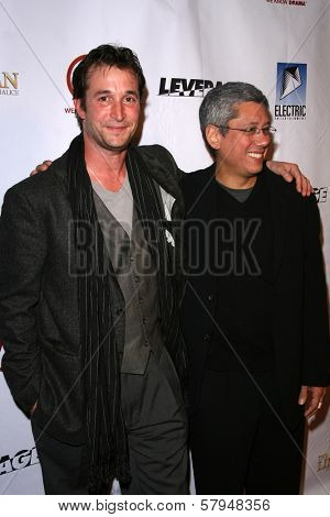 Noah Wyle and Dean Devlin  at the TNT Wrap Party for 'The Librarian' and 'Leverage'. Cabana Club, Hollywood, CA. 11-19-08