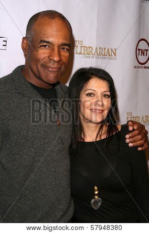 Michael Dorn and Marina Sirtis  at the TNT Wrap Party for 'The Librarian' and 'Leverage'. Cabana Club, Hollywood, CA. 11-19-08