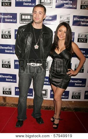 Kosmo and Melina Arroyo  at the Los Angeles Premiere of 'Mexican Gangster'. Million Dollar Theater, Los Angeles, CA. 11-21-08