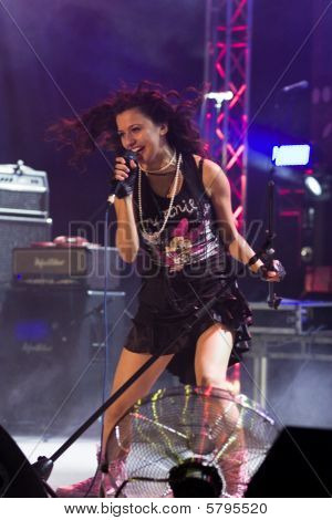 Banja Luka - 26 July - Zorana Kacic, Prophaganda Band Lead Vocal, This Year's Nektar Demo Fest Winne