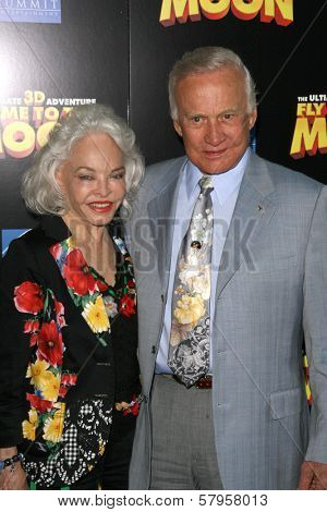 Buzz Aldrin and wife Lois  at the Los Angeles Premiere of
