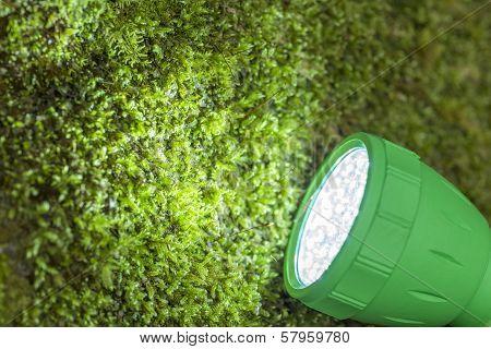 Close up LED flashlight