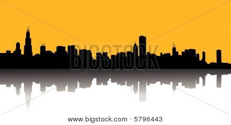Vector illustration of urban skylines wallpaper background poster