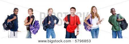 Diversos alunos