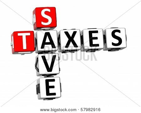3D Save Taxes Crossword