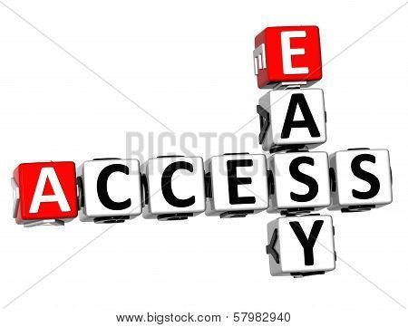 3D Easy Access Crossword