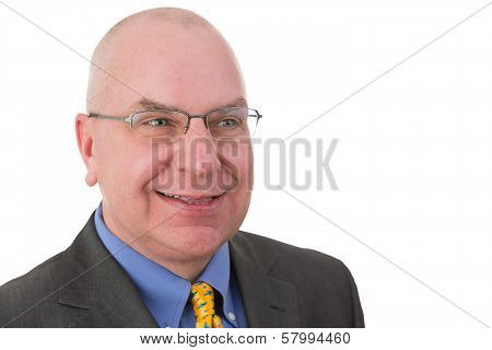 Smiling Complacent Businessman