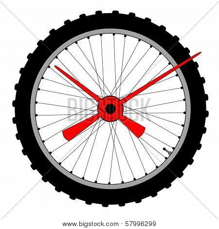 Bicycle Wheel Clock Face