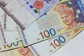 Malaysia Ringgit Note for background or texture poster
