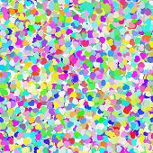 Abstract Colorful Confetti Seamless Background vector illustration poster