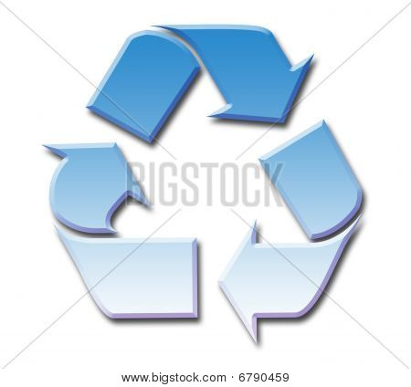 Blue Sky Recycling Symbol
